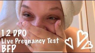 12 DPO Live Pregnancy Test BFP !!!!!!!!