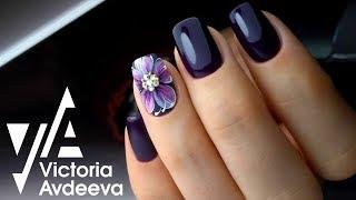 Урок Дизайн ногтей цветок | Чистый аппаратный маникюр и выравнивание базой | Идеальные блики