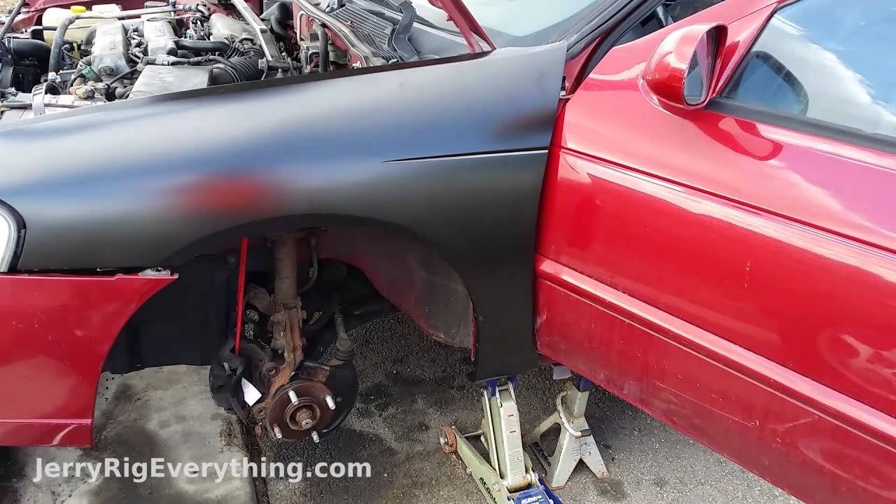 & Front Fender Replacement u002799 Nissan Sentra - Body work video - YouTube pezcame.com