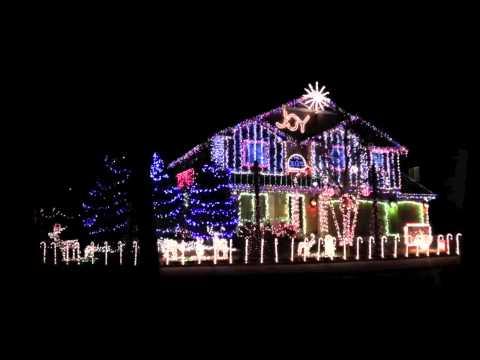 Luces de Navidad con musica Dubstep en una casa  YouTube