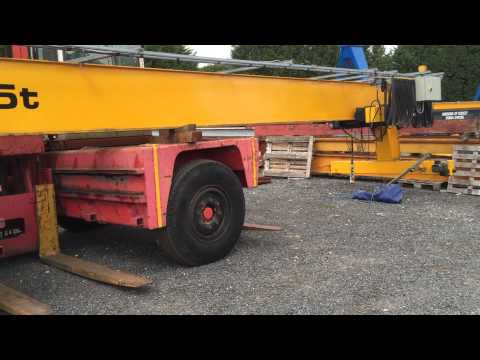 Used overhead cranes for sale. Kone single girder 5 tonne SWL crane