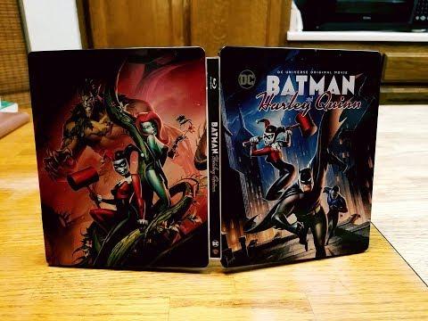 Batman and Harley Quinn Blu-ray Steelbook Unboxing