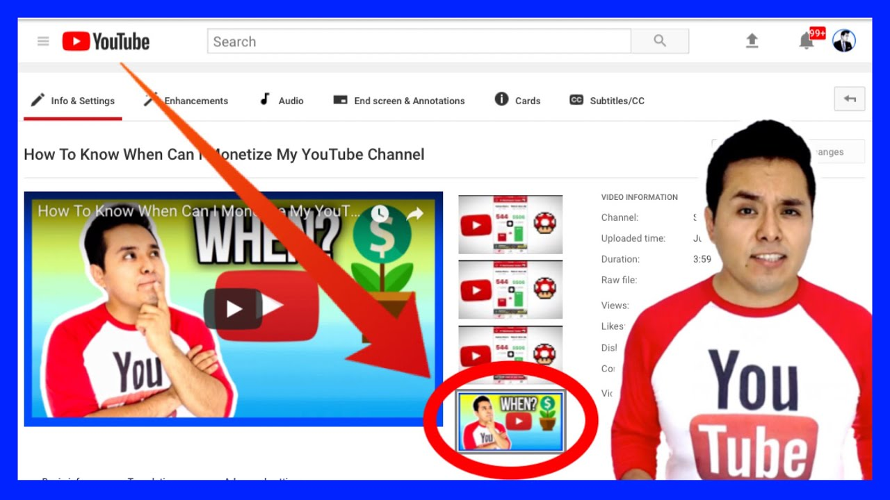 How To Upload A Thumbnail To Youtube From Your Phone Youtube