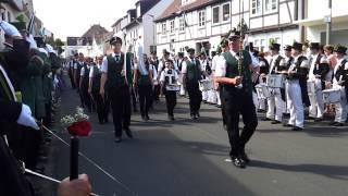 Parademarsch beim Schützenfest 2014 in Geseke
