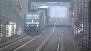 BR185 Rail4Chem mit Intermodalzug bei Bonn Villich Müldorf nach Koblenz