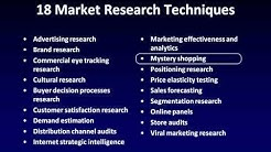 Market Research Techniques and Tools