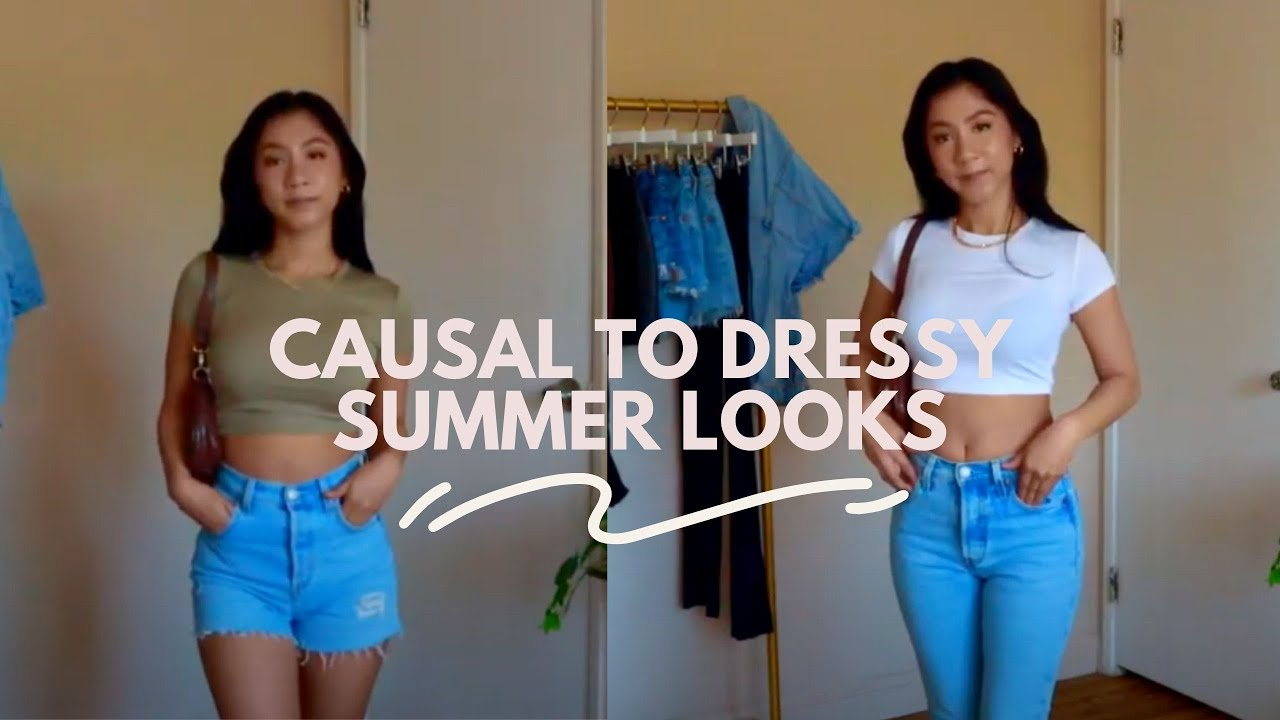 Casual to Dressy Summer outfits | Petite friendly