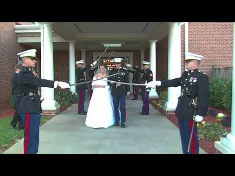 Our Marine Corps Wedding Arch!