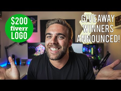 I SPENT $200 💸 ON FIVERR FOR A NEW LOGO! & GIVEAWAY WINNERS ANNOUNCED 🙌