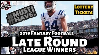 2019 Fantasy Football Rankings - Top Must Have Late Round League Winners  ?