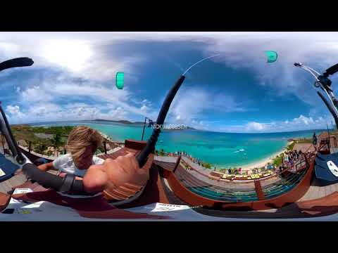 Nick Jacobsen jumps off Necker Island's Great House