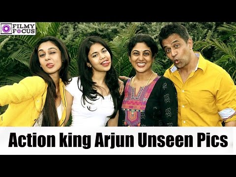 Action King Arjun Rare And Unseen Pics With Family And Fans