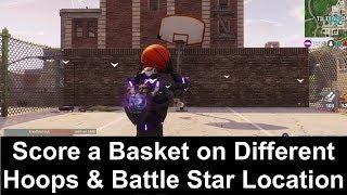 All 9 Basketball Hoop Locations & Battle Star Location - Fortnite Season 5 Week 2 Challenges