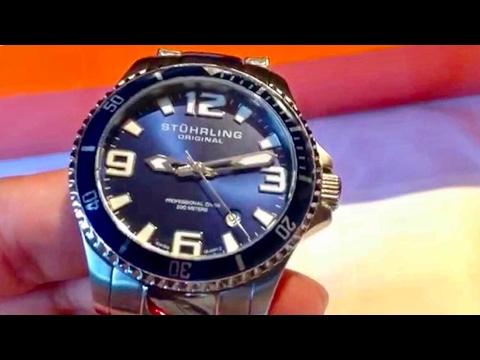 9799851e7 Stuhrling Original Divers 395.33U16 Aquadiver Regatta Champion Professional  Watch