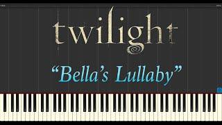 Carter Burwell The Twilight Saga Twilight Bella's Lullaby Piano Tutorial Synthesia