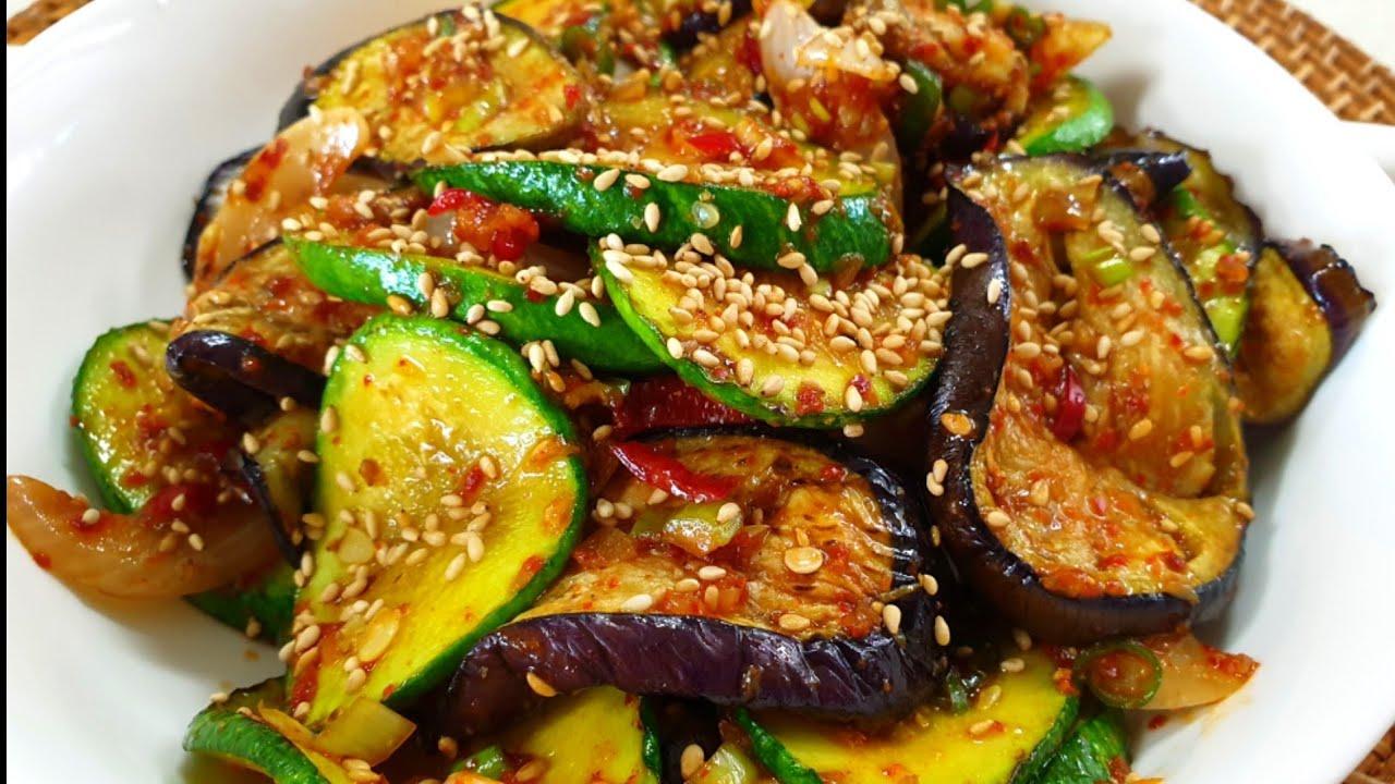 기름에 볶지마세요! 애호박과 가지로 만드는 요리는 이 방법이 최고입니다. 식감과 영양이 10.5배