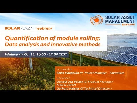 Solarplaza Webinar: Quantification of module soiling  data analysis and innovative methods