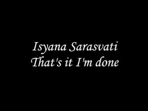 Isyana Sarasvati - That's it I'm done (Lirik lagu)