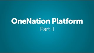 OneNation Party Platform - Part II - Presented by Christopher Life