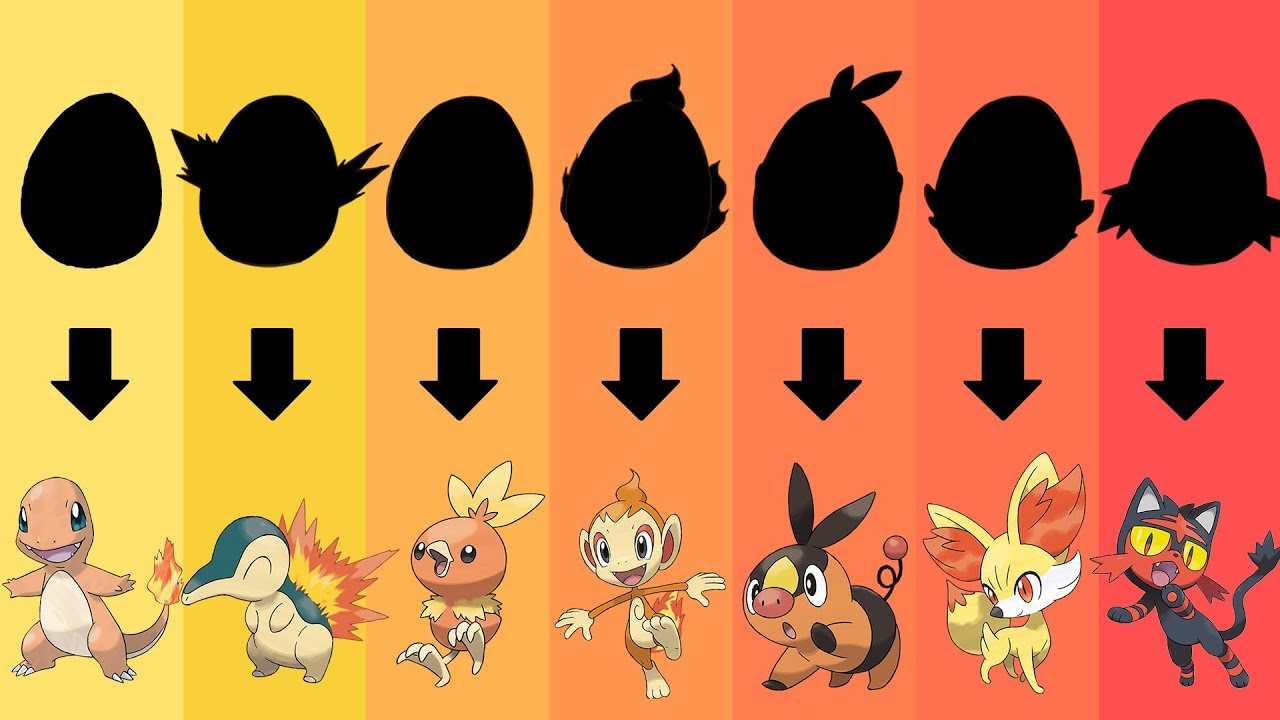 pokemon eggs requests 4 all fire type starters gen 1 to 7 youtube