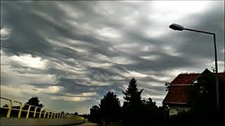 11.08.2017  Bardzo rzadkie   zjawisko nad Wrocławiem ... Chmury  Asperitas{ Undulatus  asperatus}