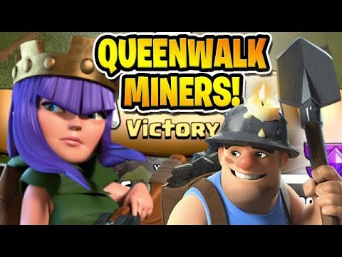 QUEEN WALK MINERS IS AMAZING! - Free To Play TH10 -