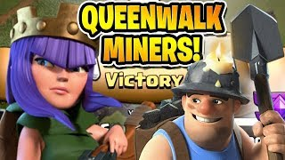 "QUEEN WALK MINERS IS AMAZING! - Free to Play TH10 - ""Clash of Clans"""