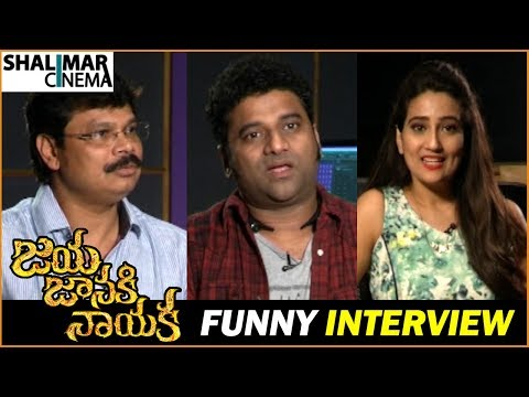 Devi Sri Prasad and Boyapati Srinu Funny Interview about Jaya Janaki Nayaka Movie || Shalimarcinema