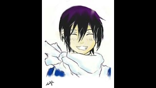 Yato from Noragami speed drawing by Mahnoor Ali