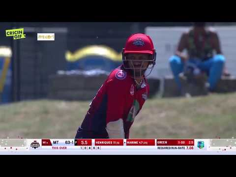 Sunil Narine smashes 9 sixes - Match 16: Montreal Tigers vs CWI B - GT20Canada 2018