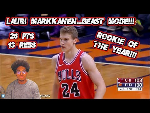 LAURI MARKKANEN BEAST MODE!! 26 PTS 13 REBS UNSTOPPABLE! ROOKIE OF THE YEAR!!!