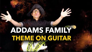 Addams Family Theme on Guitar (with TAB)