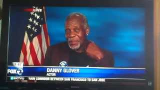 Danny Glover is cut off by KTVU news, and is ticked off, understandably!