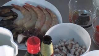 Arroz con Mariscos a La Cerveza