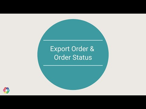 Order Management : Export order API and Order status