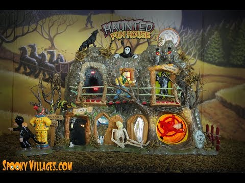 department 56 haunted fun house video review