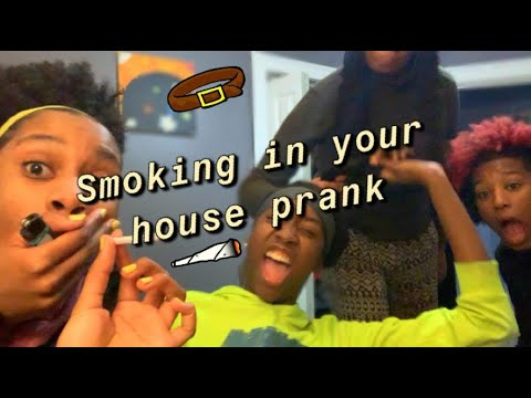 Smoking prank on my mom (SHE ATTACKS ME) ft  CANX34L