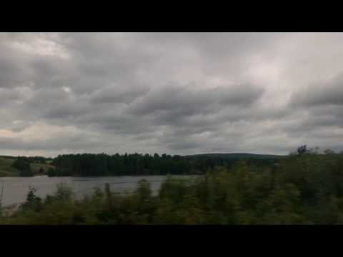 View from Oslo to Stockholm train in -1 min
