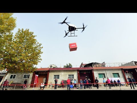 Drones deployed by Chinese e-commerce giant for goods delivery