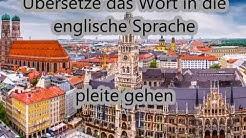 pleite gehen | deutsch - englisch