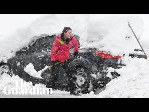 Parts of Europe blanketed by heavy snowfall