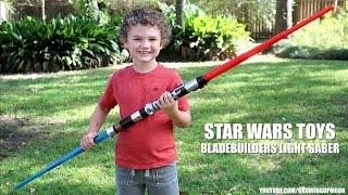 Playing with Star Wars Bladebuilders: Darth Vader & Obi-Wan Kenobi Electronic Lightsaber
