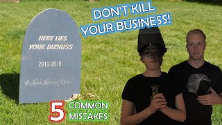 5 Mistakes that can KILL a Woodworking Business & how to avoid them