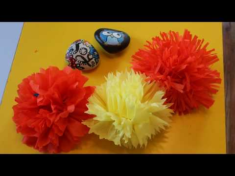 Easy DIY, Paper flower, Pom Pom, Home Decor, Party Decor