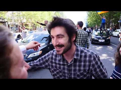 Celebrations In Yerevan As Sarkisian Resigns