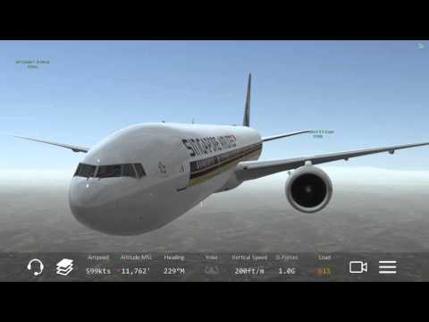 [HD] Infinite Flight Multiplayer Boeing 777-300ER. ATC. Singapore Airline takeoff at Sydney airport