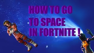 How to go to Space in Fortnite | TUTORIAL | GLITCH | *SEASON 8*