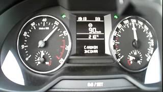 Skoda Octavia A7 1.6 MPI 110 л.с. АКПП - Разгон до 100 (в D-реж.)