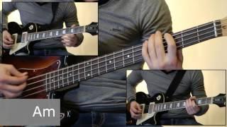 Как играть на бас гитаре Утопленник - Король и шут  ( видеоурок Guitar riffs) + табы