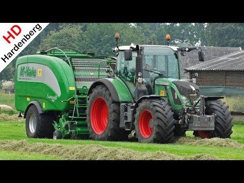 Pressing Bales - Fendt 720 Vario + McHale Fusion 3 - Balen Persen - Nikkels - Apeldoorn - 2018.
